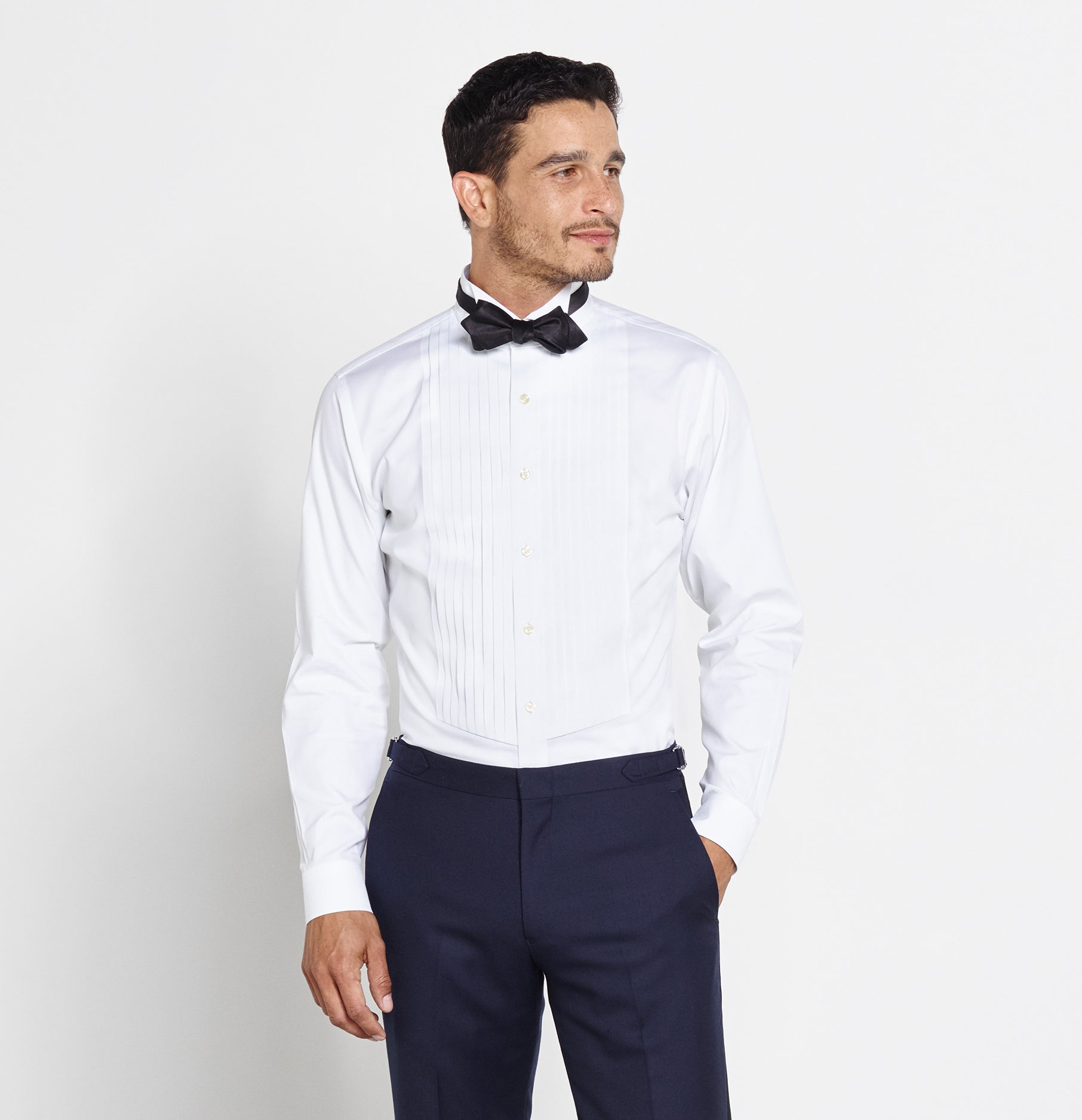 Cotton Wing Tip Shirt The Black Tux
