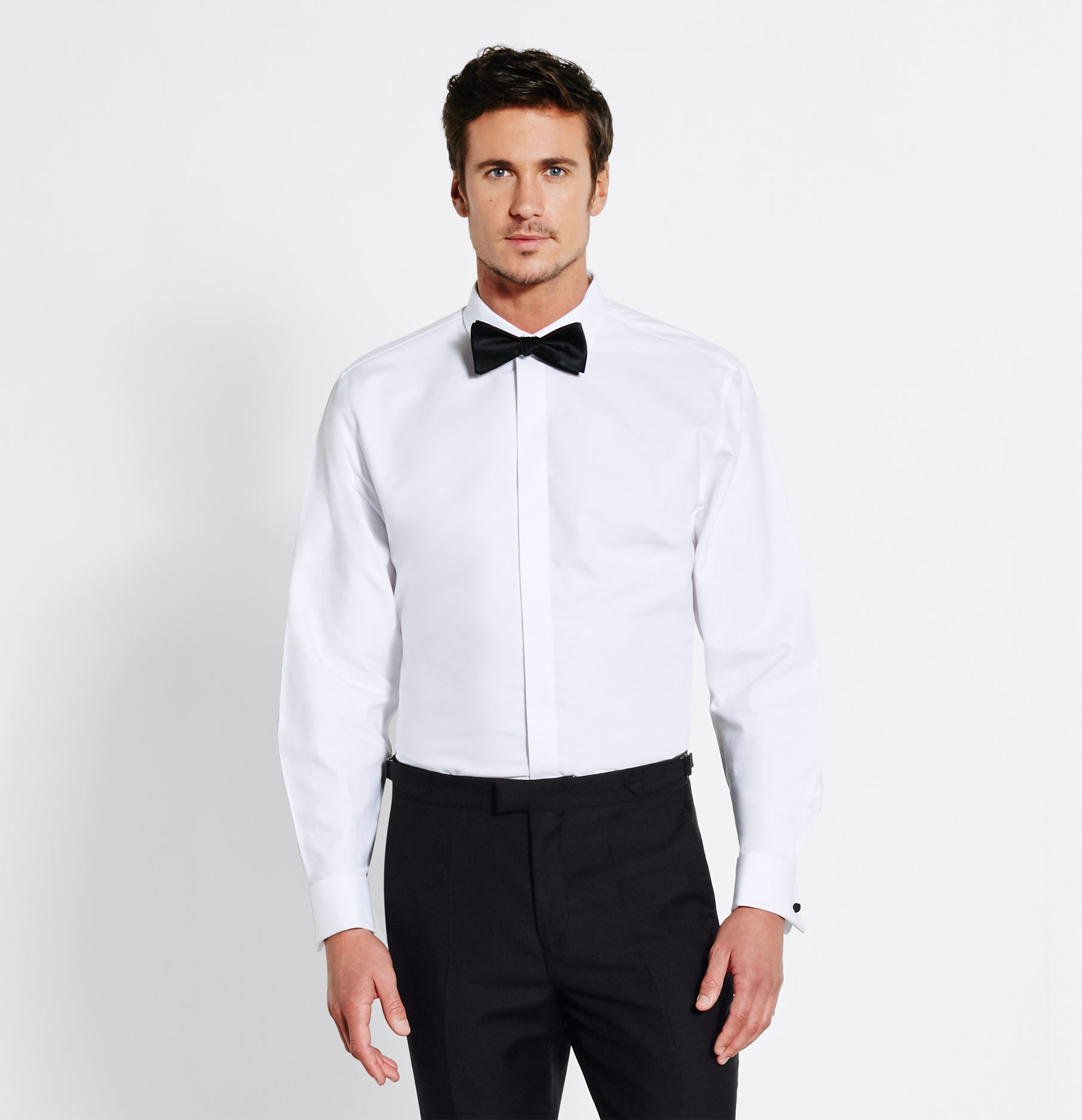 Cotton Fly Front Dress Shirt The Black Tux