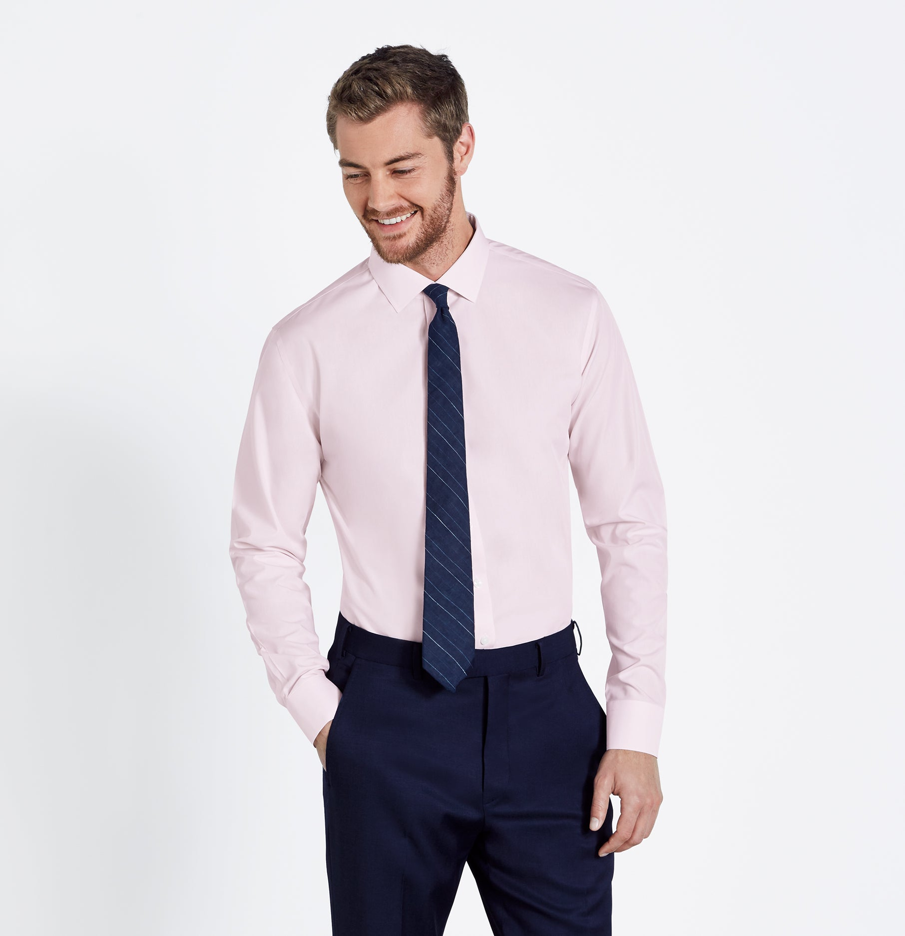 Pink Dress Shirt | The Black Tux