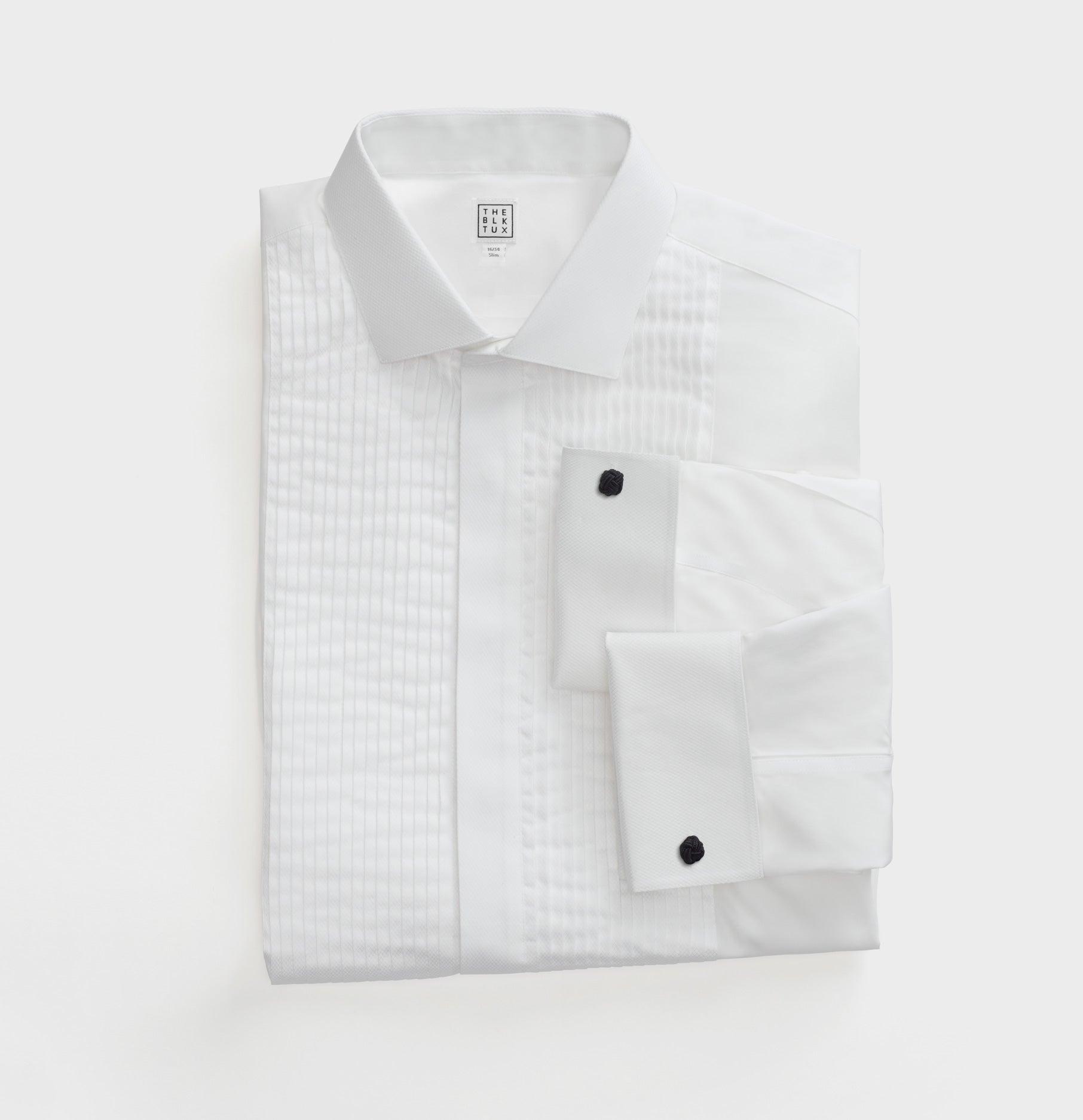 Pleated Point Collar Dress Shirt The Black Tux