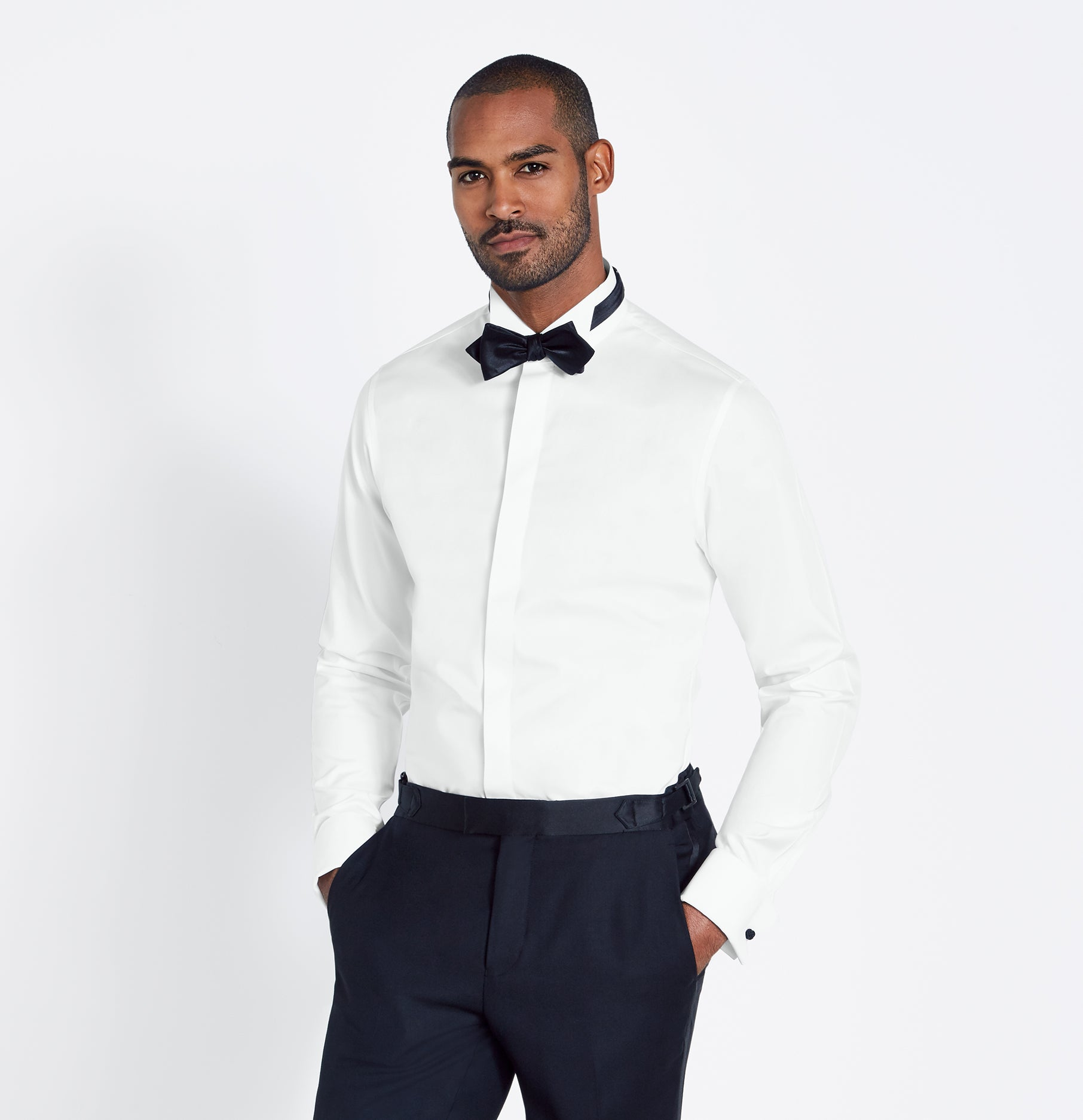 Wing Collar Fly Front Shirt The Black Tux