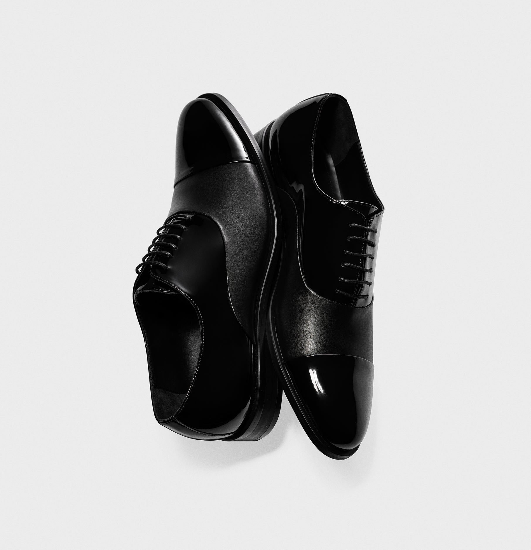 Calfskin Leather Tux Shoes