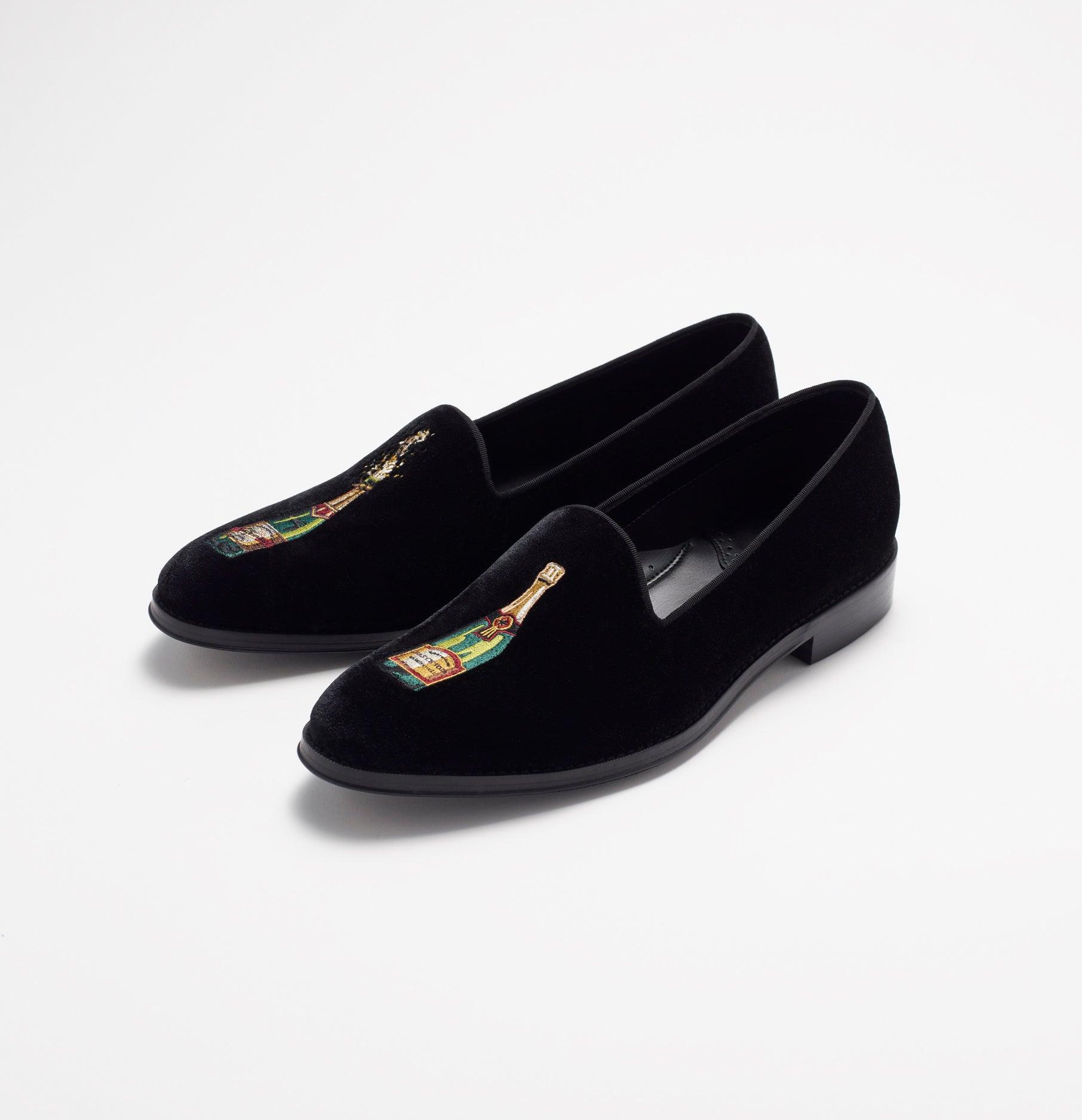 935c22ee26fe2 Cheers! Black Velvet Loafers | The Black Tux | The Black Tux