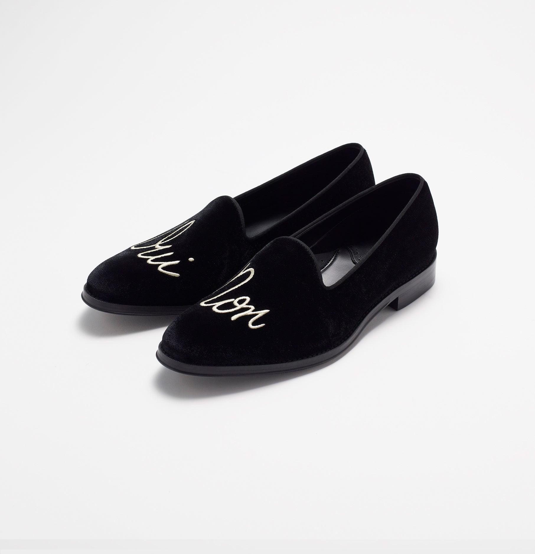4b2c836da80 Decisions Black Velvet Loafers