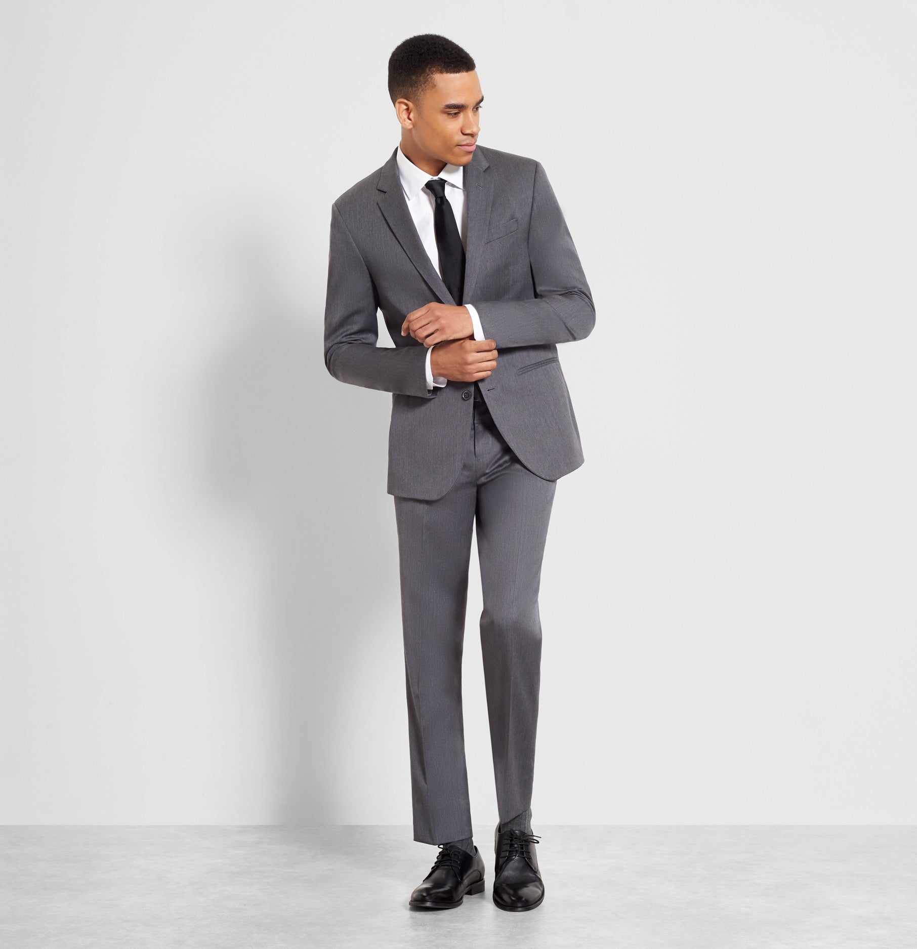 Grey Suit The Black Tux