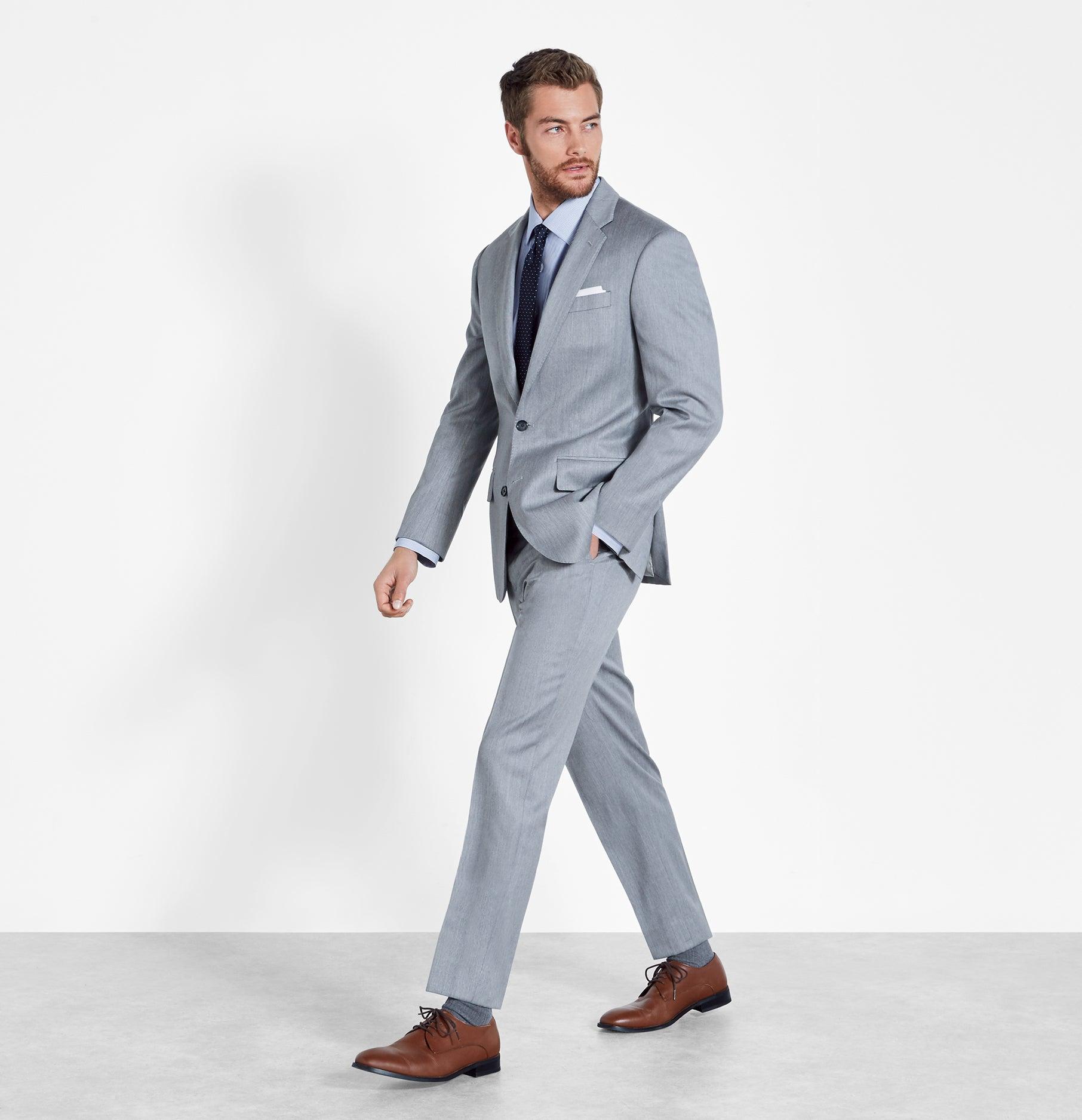 Light Grey Suit | The Black Tux