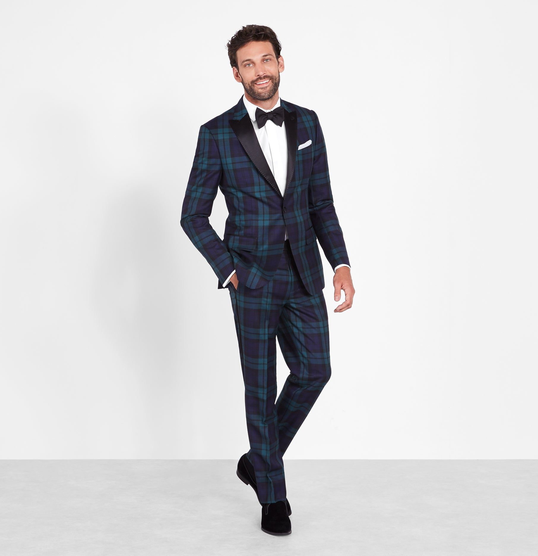 2019 factory price shopping customers first Black Watch Tartan Tuxedo