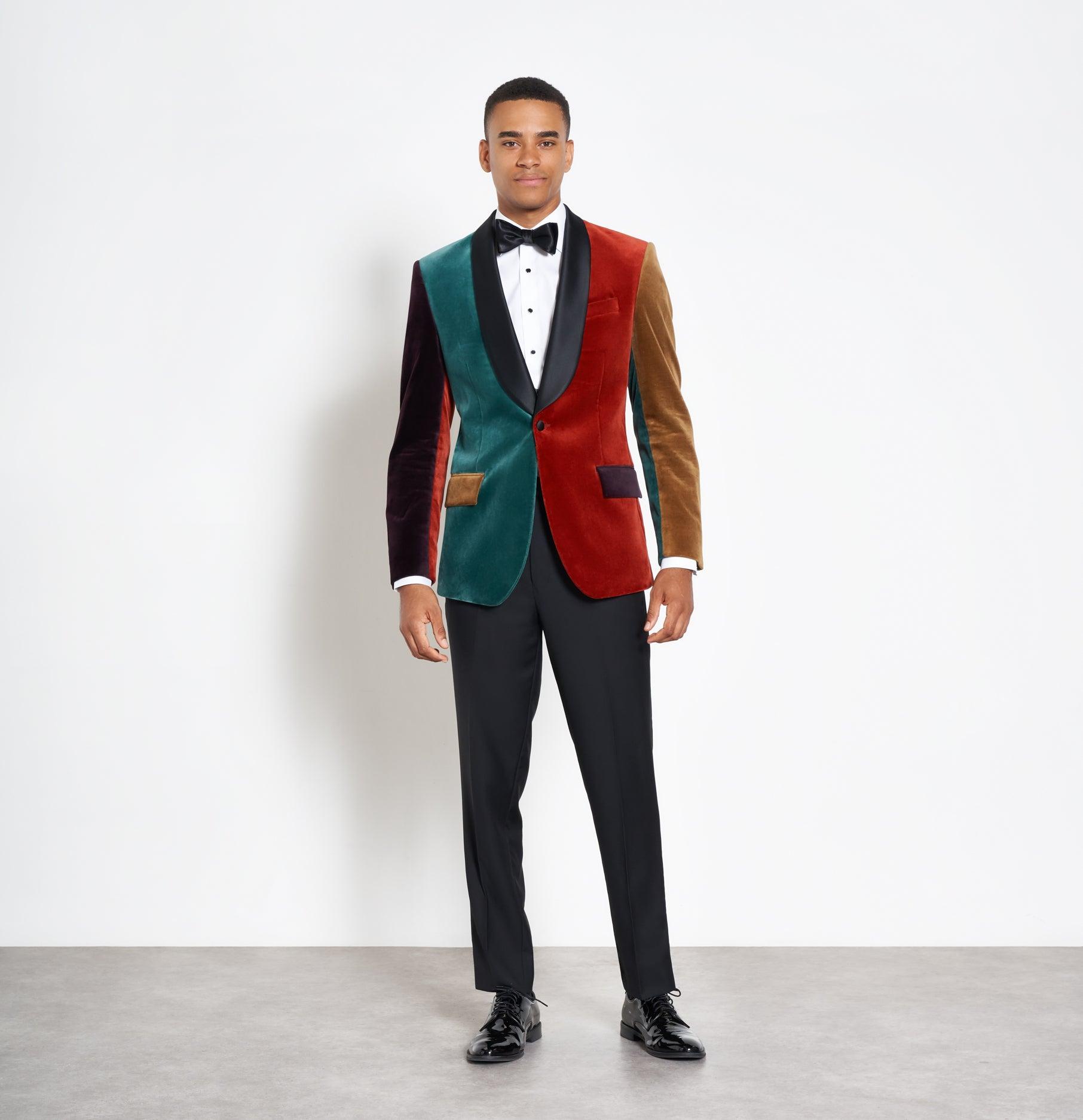 0de464fe6195 Color Blocked Velvet Jacket Tuxedo   The Black Tux