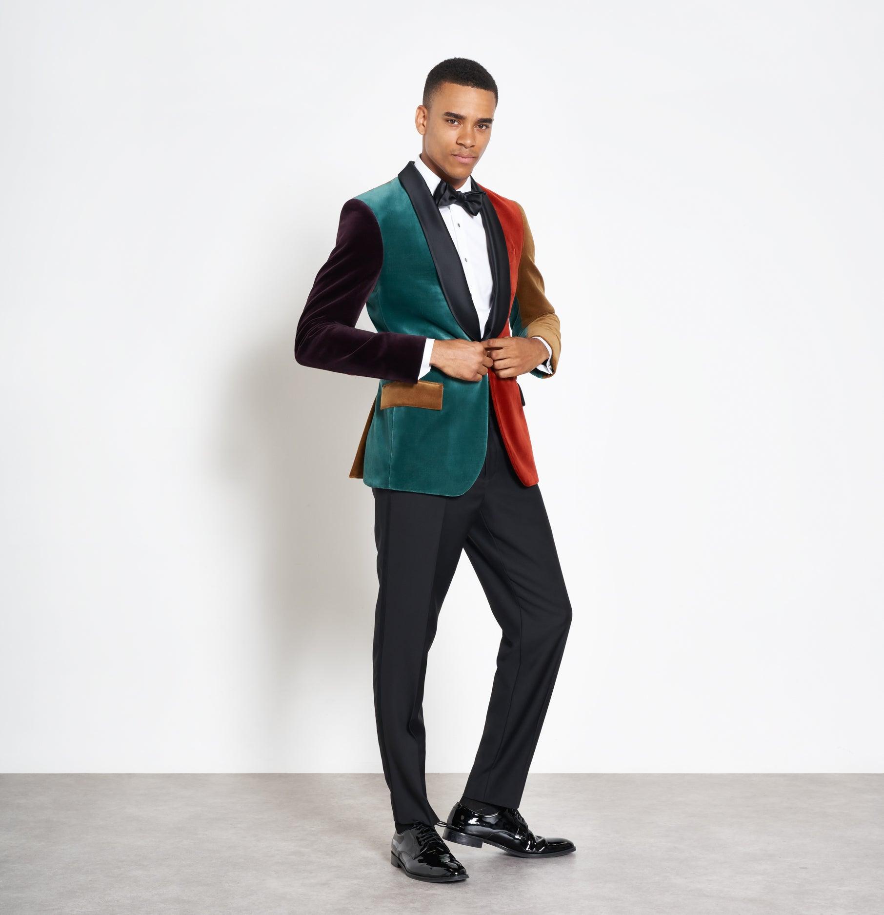 0de464fe6195 Color Blocked Velvet Jacket Tuxedo | The Black Tux