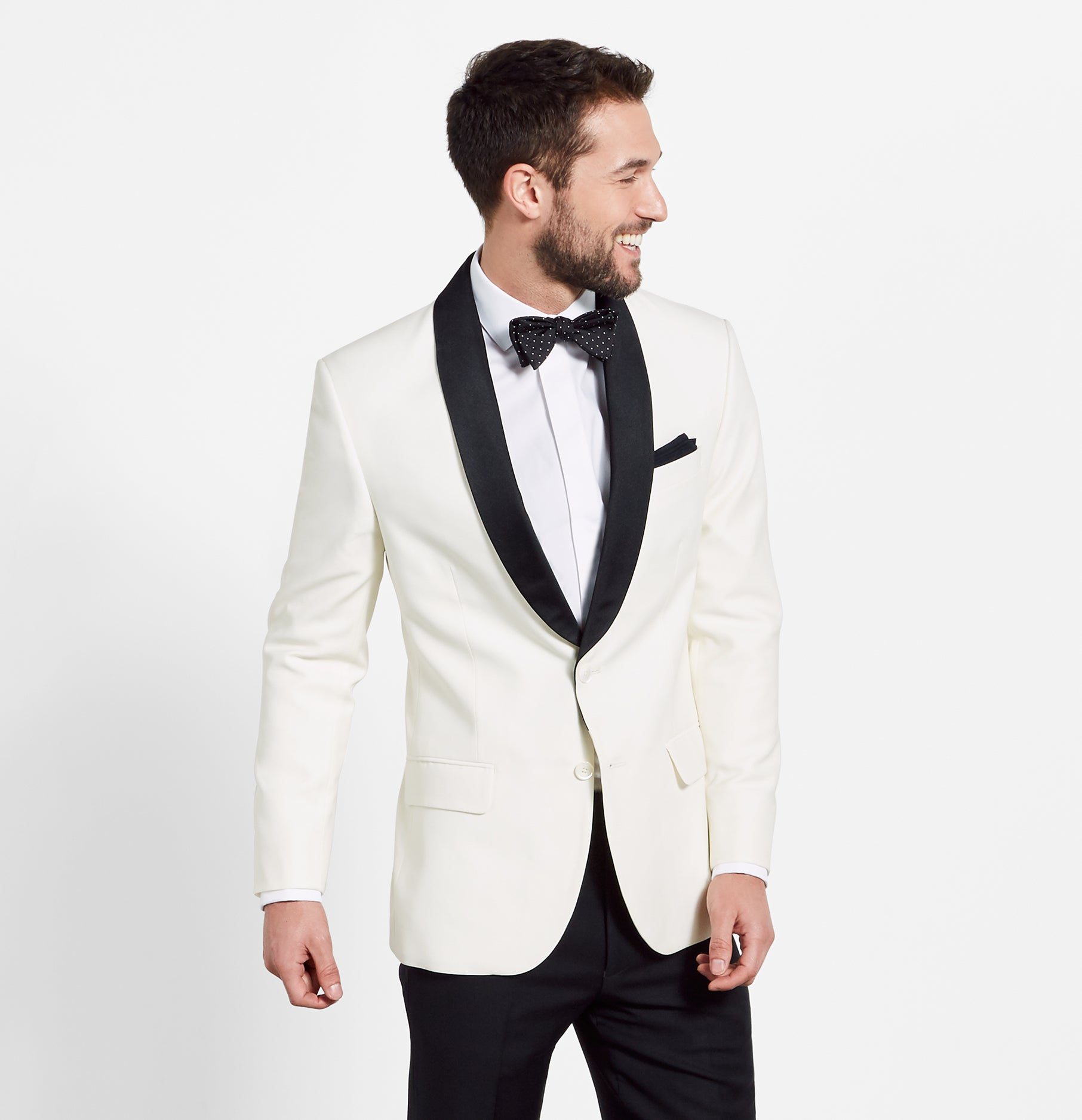 Contrast Shawl Jacket Tuxedo | The Black Tux