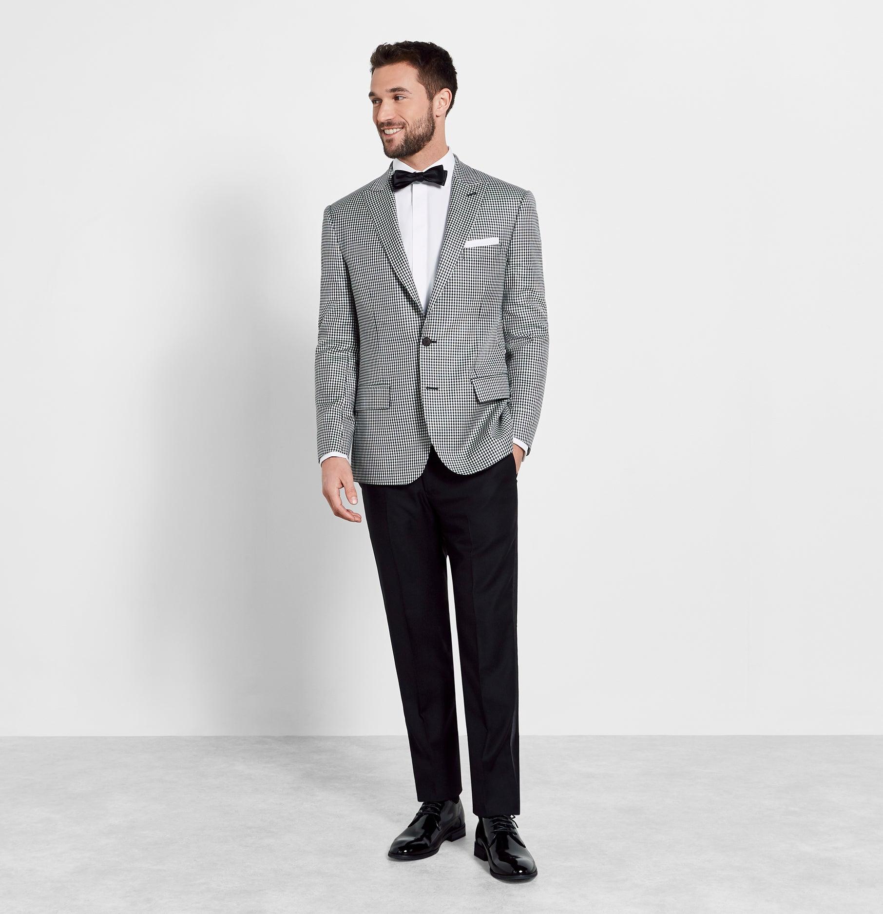 179ec3bbed Gingham Jacket Tuxedo