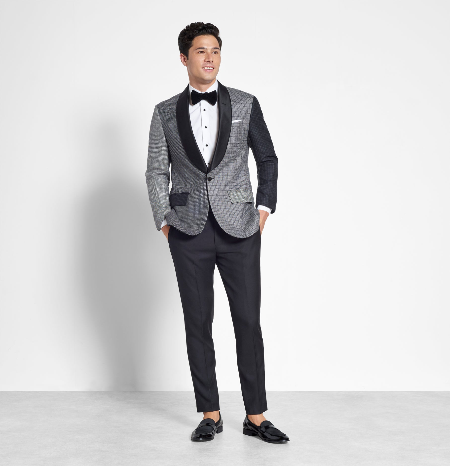 Grey Melange Jacket Tuxedo The Black Tux