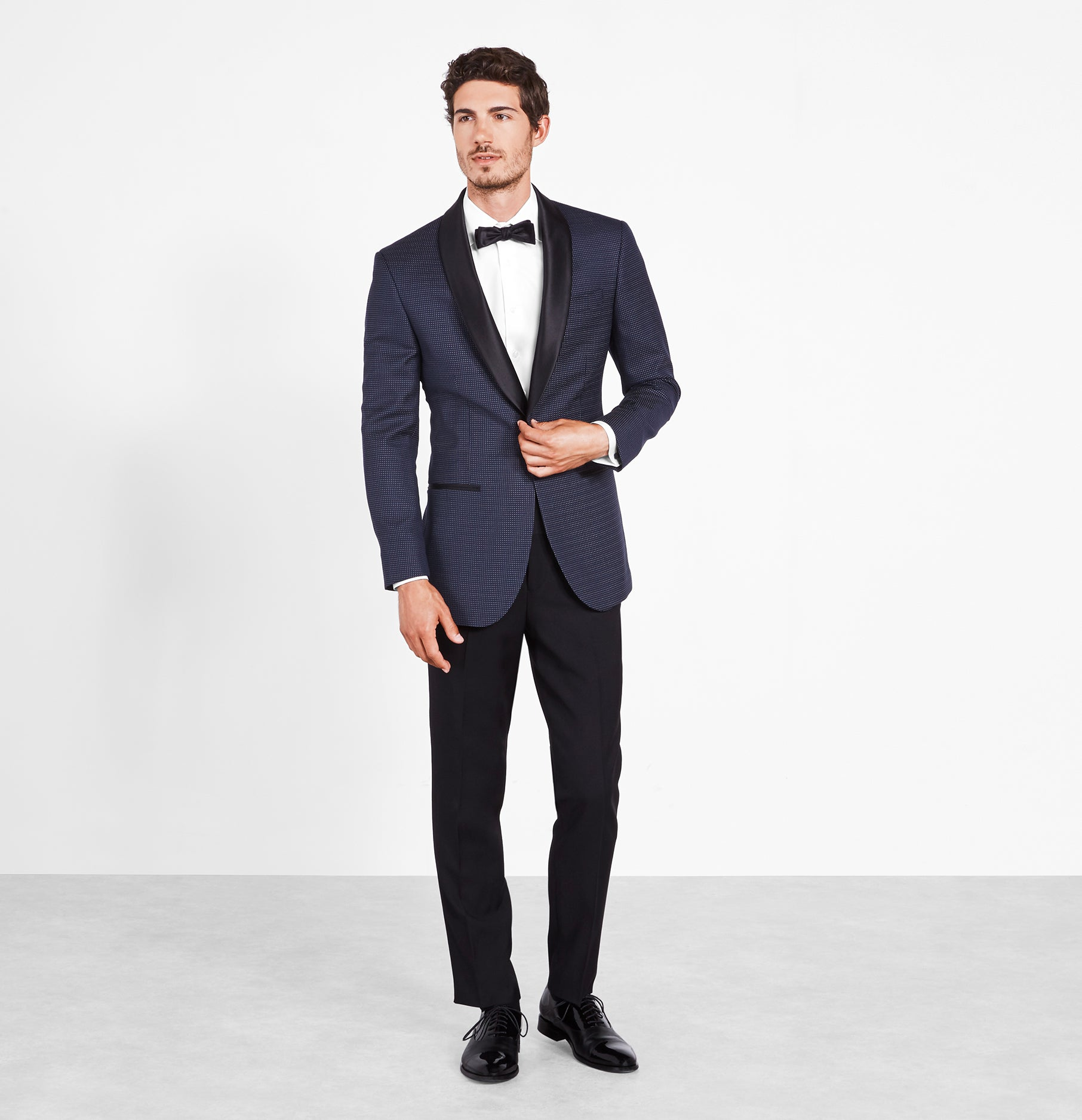 top quality stylish design newest collection Midnight Pin Dot Tuxedo