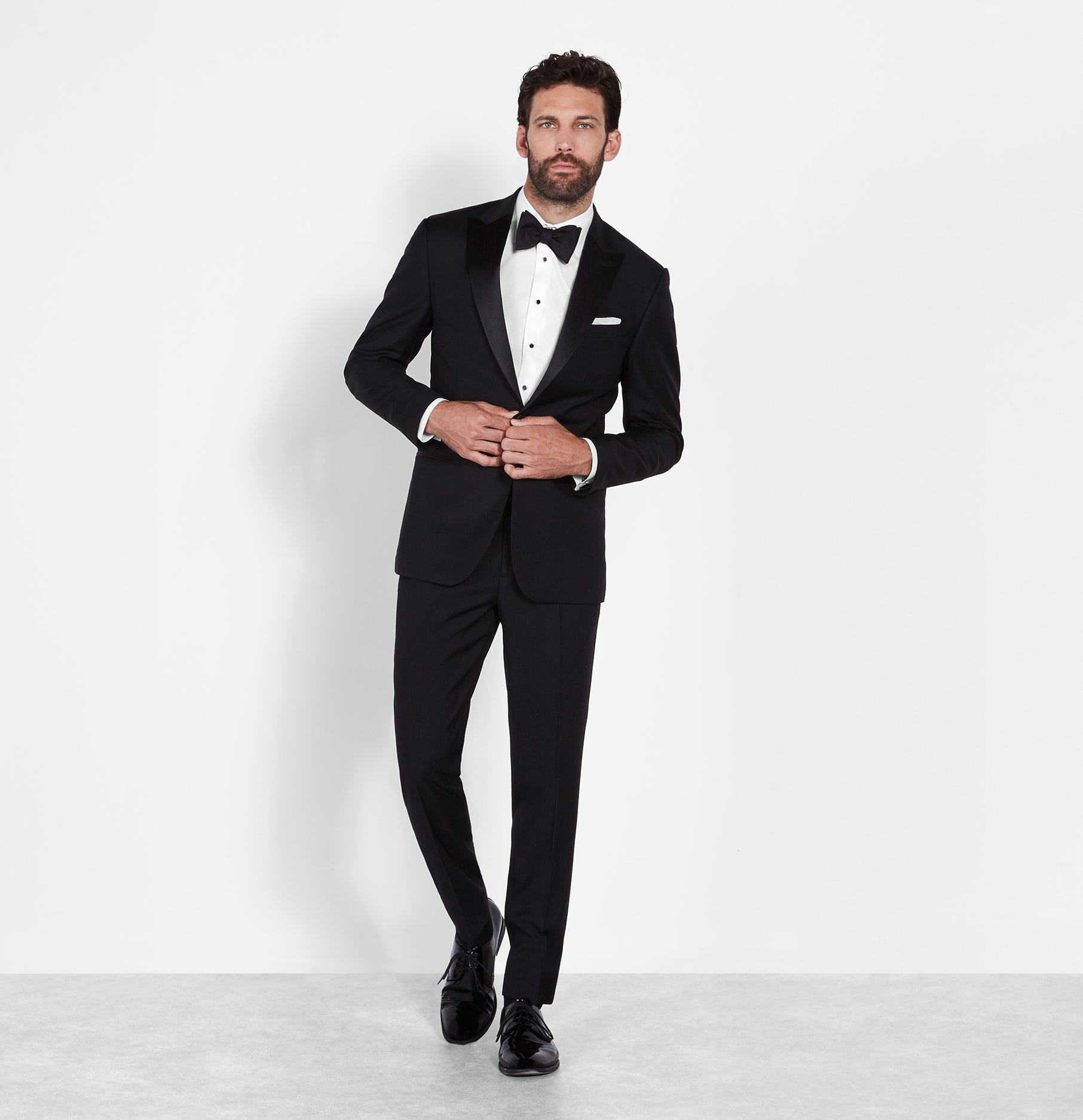 Peak Lapel Tuxedo | The Black Tux