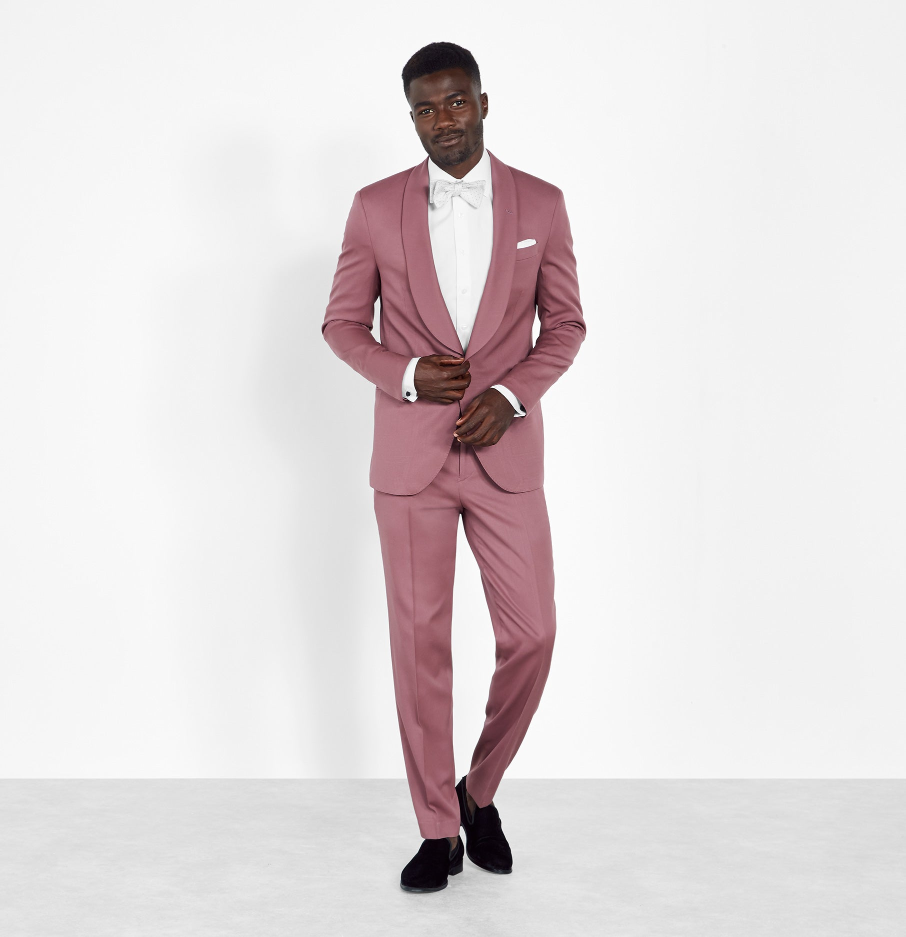 Pineapple and Pink Tuxedo Vest and Bow Tie