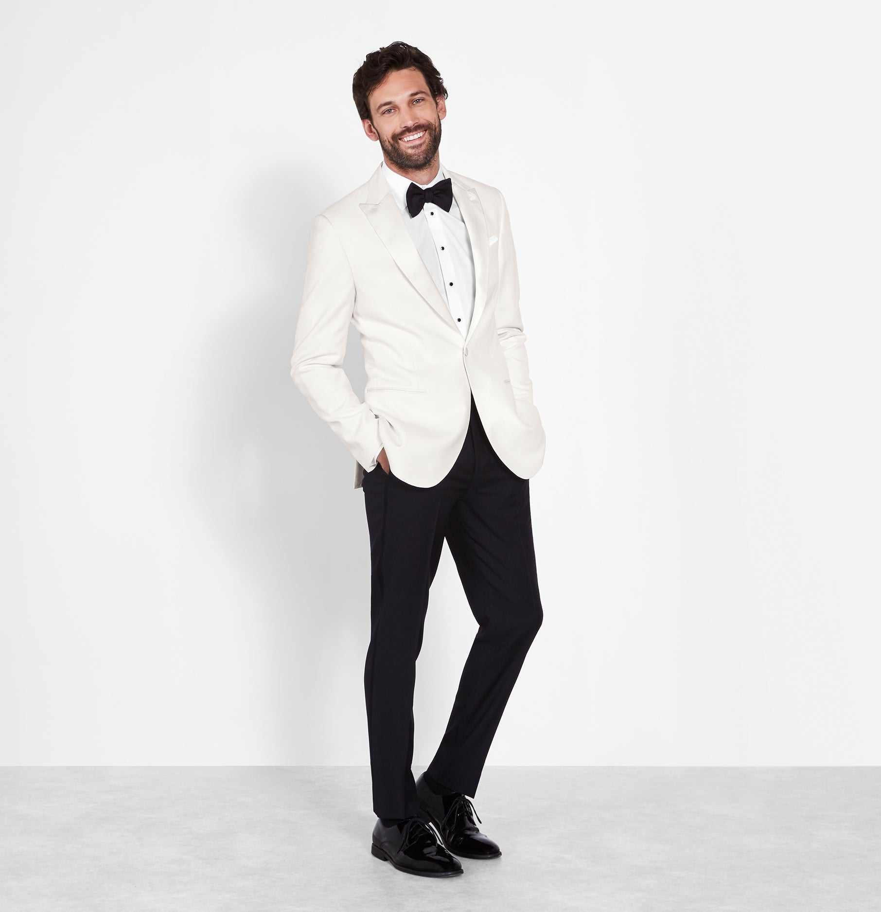 White Dinner Jacket Tuxedo | The Black Tux