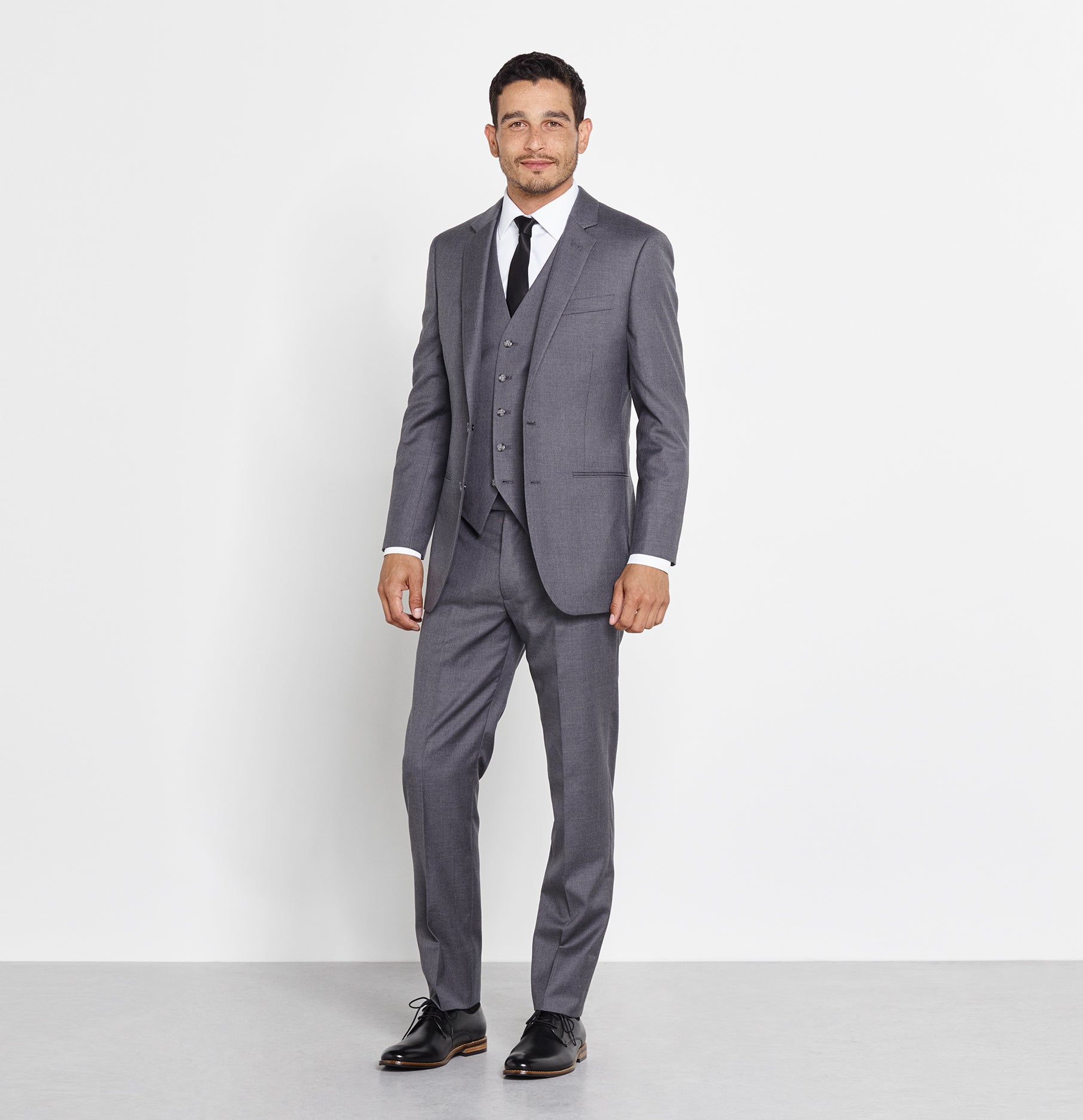 Grey Suit Vest | The Black Tux