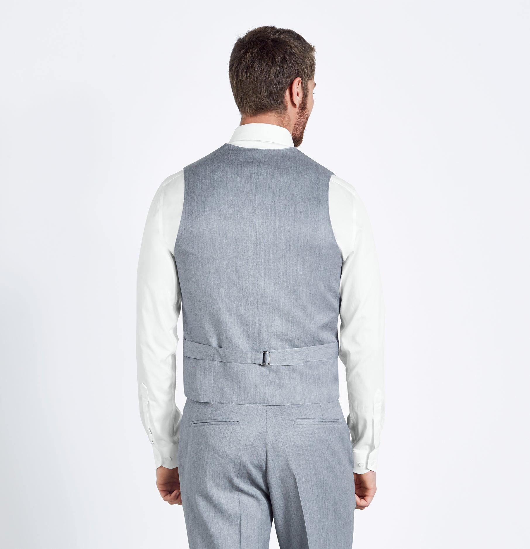 Light Grey Suit Vest   The Black Tux